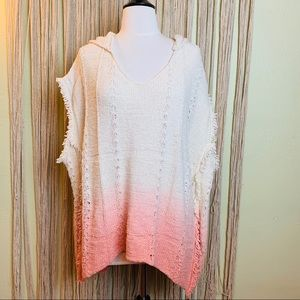 Anthropologie | Moth Ombre Hooded Poncho Sweater